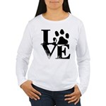 Love Dogs Paw Print Long Sleeve T-Shirt
