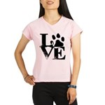 Love Dogs Paw Print Performance Dry T-Shirt