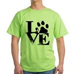 Love Dogs Paw Print T-Shirt