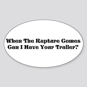 Rapture Humor Oval Sticker