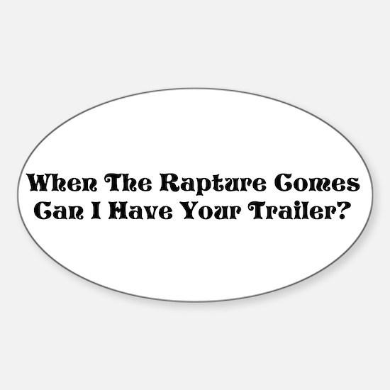 Rapture Humor Oval Decal
