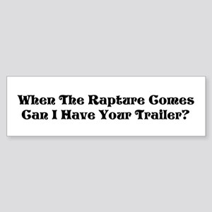 Rapture Humor Bumper Sticker