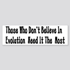 Pro-Evolution Bumper Sticker