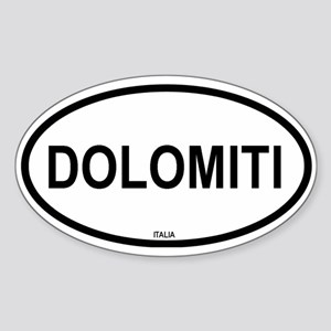 Dolomiti Oval Sticker