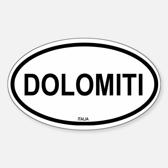 Dolomiti Oval Decal