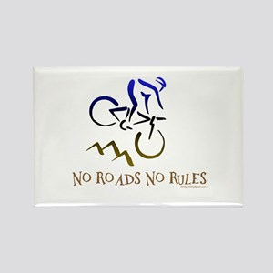 NO ROADS NO RULES Rectangle Magnet