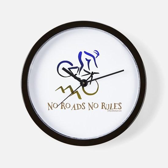 NO ROADS NO RULES Wall Clock