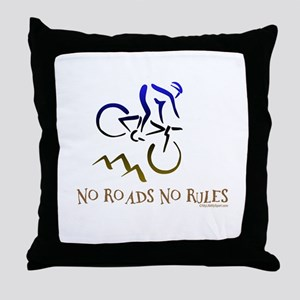 NO ROADS NO RULES Throw Pillow