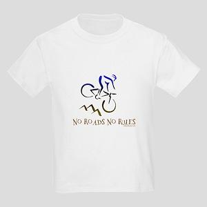NO ROADS NO RULES Kids Light T-Shirt