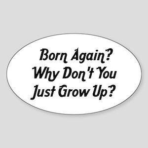 Anti-Religion Oval Sticker