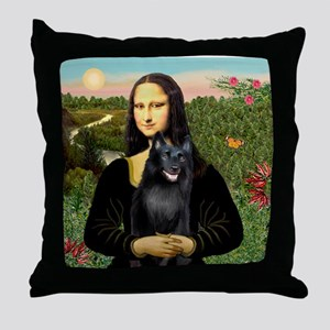 Mona's Schipperke (#5) Throw Pillow