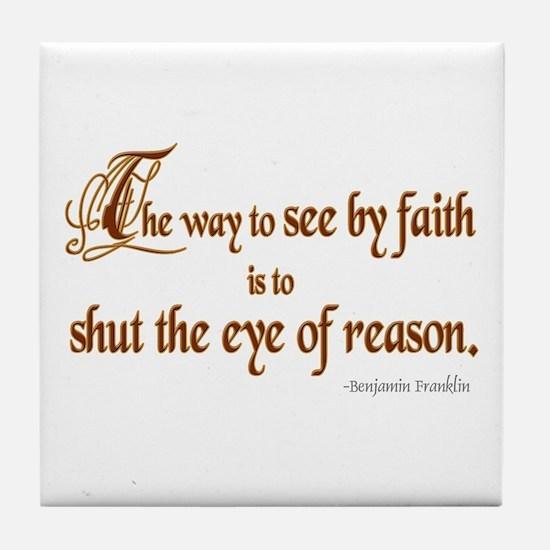 Eye of Reason Tile Coaster