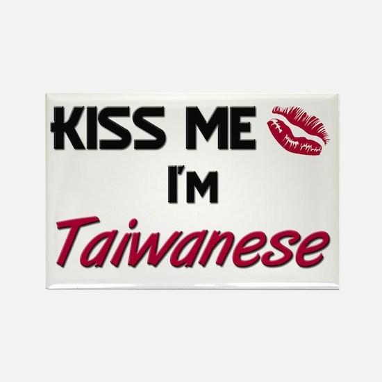 Kiss me I'm Taiwanese Rectangle Magnet