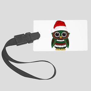 Christmas Owl Large Luggage Tag