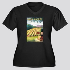 Napa Valley, California - Wine Country Plus Size T