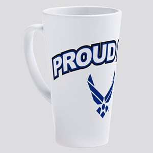 U.S. Air Force Proud Dad 17 oz Latte Mug