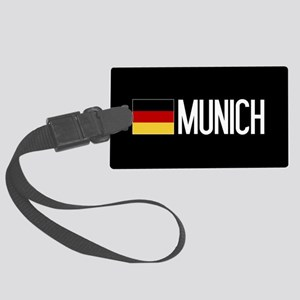 Germany: German Flag & Munich Large Luggage Tag