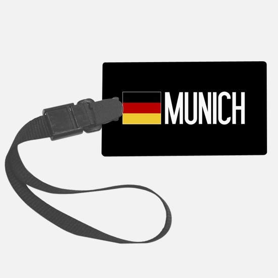Germany: German Flag & Munich Luggage Tag