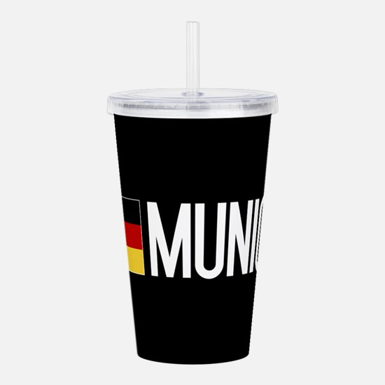 Germany: German Flag & Acrylic Double-wall Tumbler