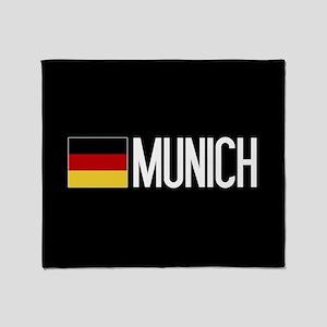 Germany: German Flag & Munich Throw Blanket