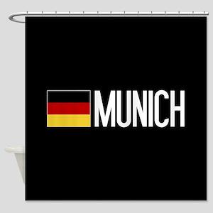Germany: German Flag & Munich Shower Curtain
