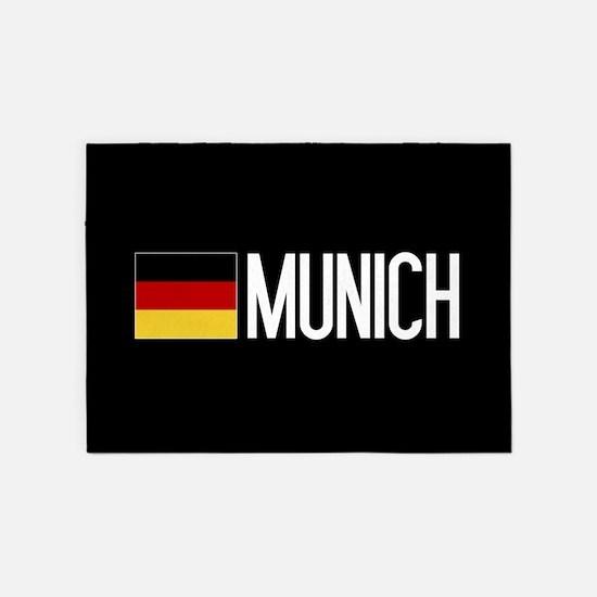 Germany: German Flag & Munich 5'x7'Area Rug