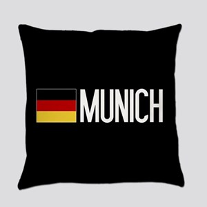 Germany: German Flag & Munich Everyday Pillow
