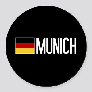 Germany: German Flag & Munich Round Car Magnet