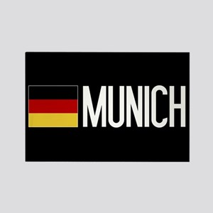 Germany: German Flag & Munich Rectangle Magnet