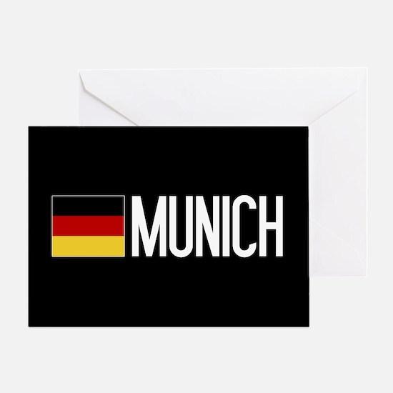 Germany: German Flag & Munich Greeting Card