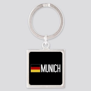 Germany: German Flag & Munich Square Keychain