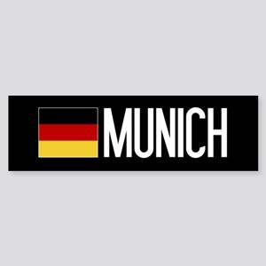 Germany: German Flag & Munich Sticker (Bumper)