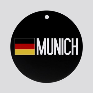 Germany: German Flag & Munich Round Ornament
