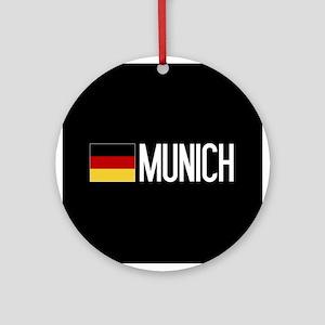 Germany: German Flag & Munich Round Ornament
