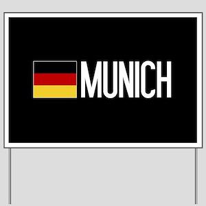 Germany: German Flag & Munich Yard Sign