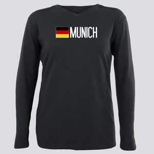 Germany: German Flag & M Plus Size Long Sleeve Tee