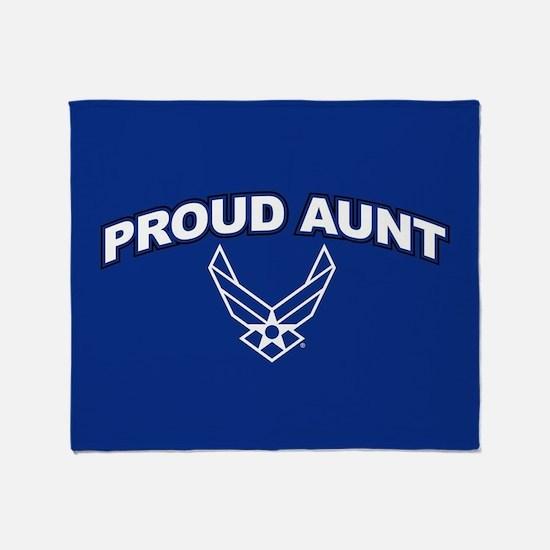 U.S. Air Force Proud Aunt Throw Blanket