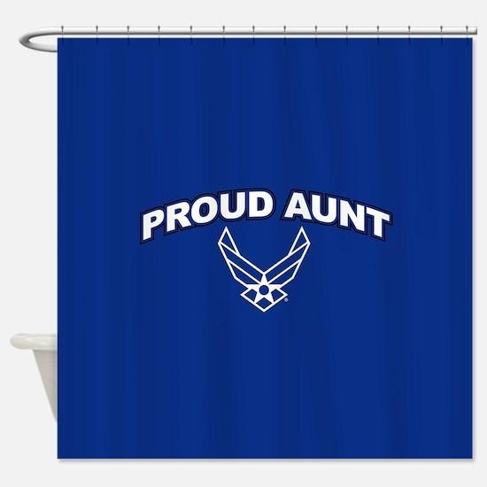 U.S. Air Force Proud Aunt Shower Curtain