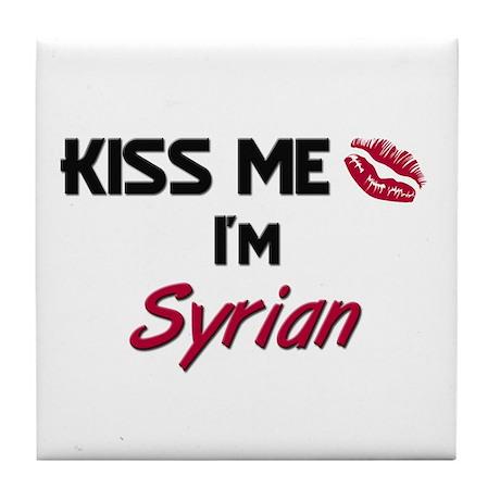 Kiss me I'm Syrian Tile Coaster