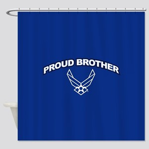 U.S. Air Force Proud Brother Shower Curtain