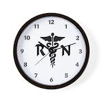 RN Medical Symbol Wall Clock