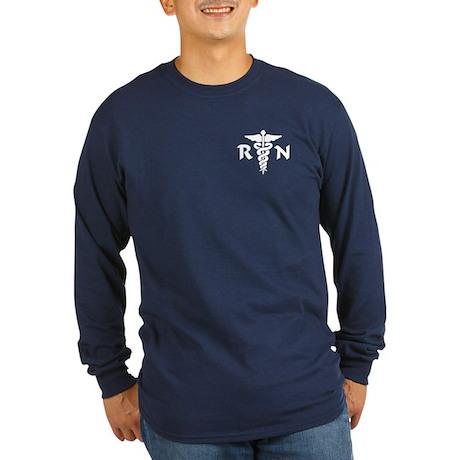 RN Medical Symbol Long Sleeve Dark T-Shirt