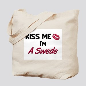 Kiss me I'm A Swede Tote Bag