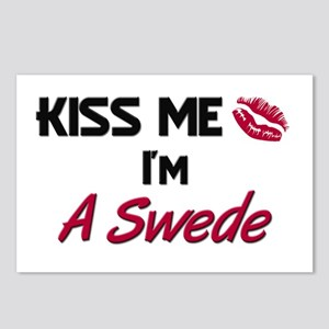 Kiss me I'm A Swede Postcards (Package of 8)