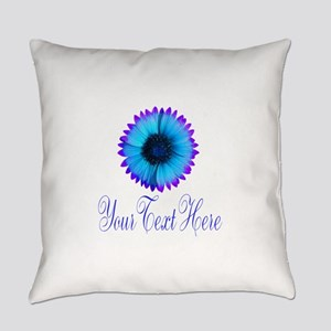 Fantasy Flower Blue Purple Everyday Pillow