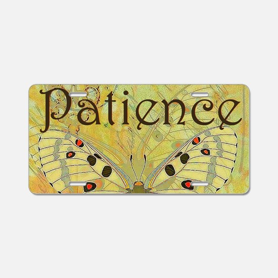 Patience Aluminum License Plate