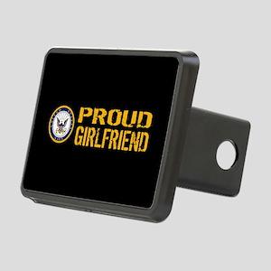 U.S. Navy: Proud Girlfrien Rectangular Hitch Cover