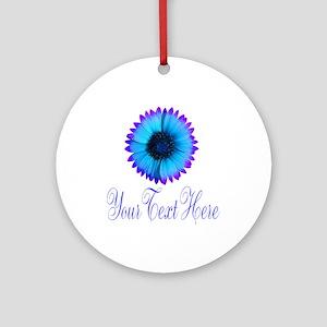 Fantasy Flower Blue Purple Round Ornament