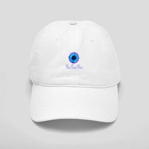 Fantasy Flower Blue Purple Baseball Cap