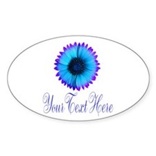Fantasy Flower Blue Purple Sticker